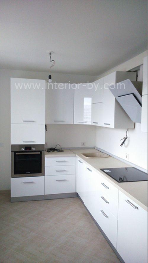 кухня краска белая высокий глянец