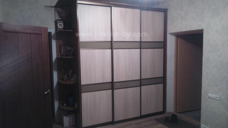шкаф с дверями дсп и лакобелем