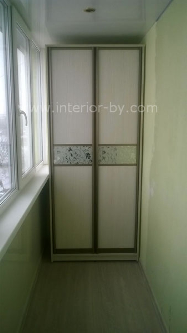 Шкаф сенатор для балкона с пескоструем