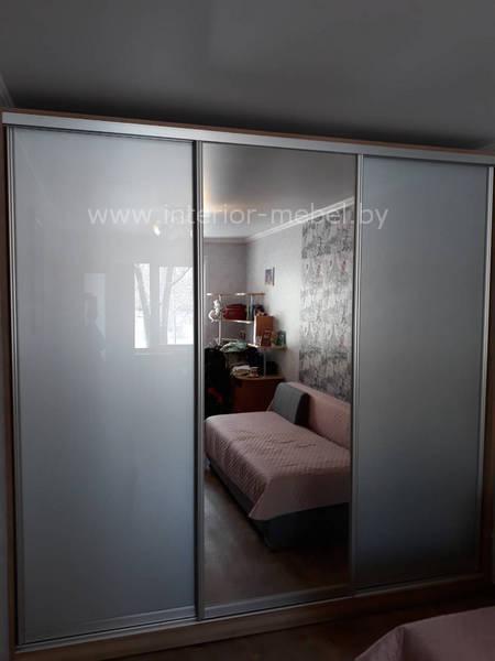 Дверь лакобель металлик