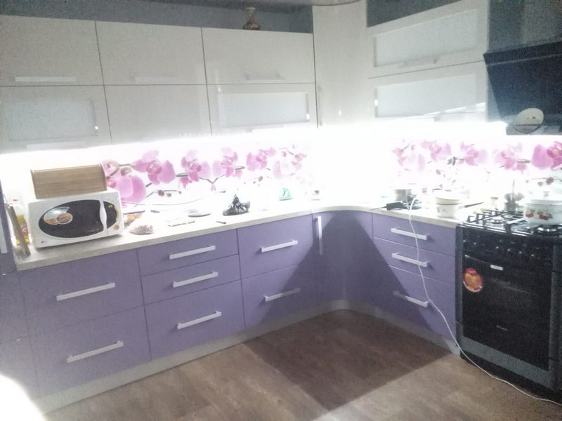 Кухня краска с камнем