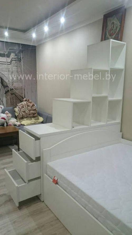 Кровать со столом для подростка