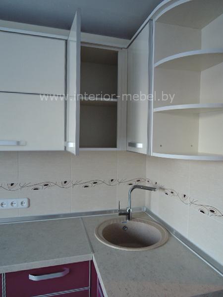 Кухня пластик фото фуксия бежевая