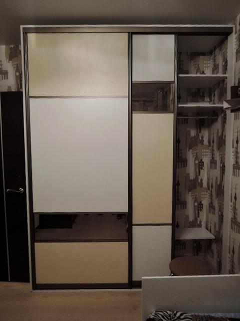 Шкаф купе геометрия с бронзой