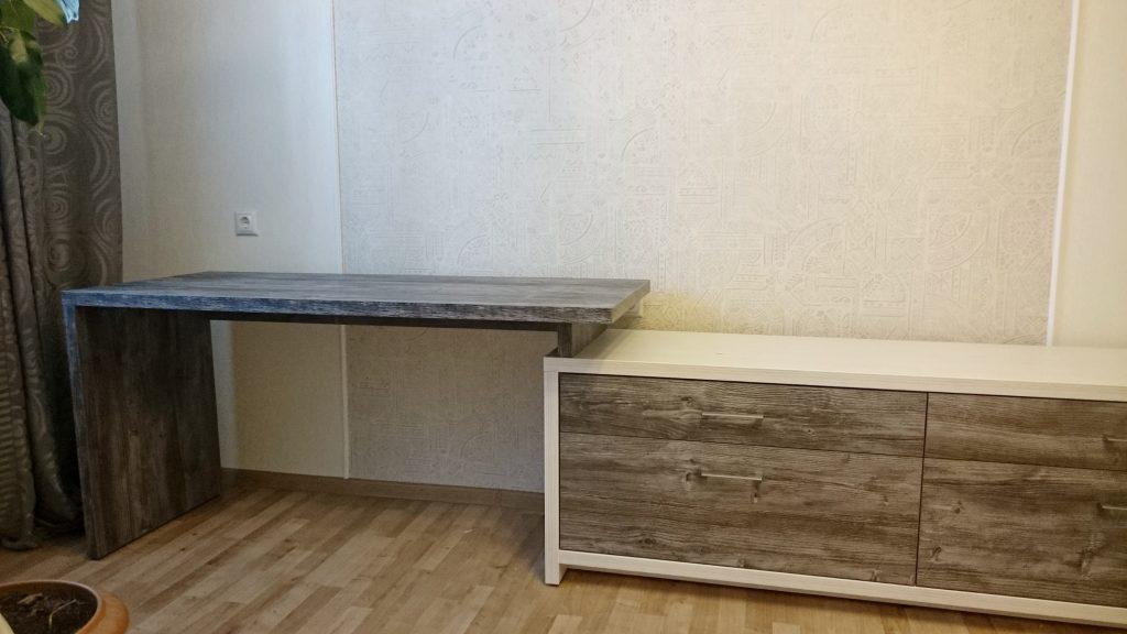 Тумба под ТВ с письменным столом